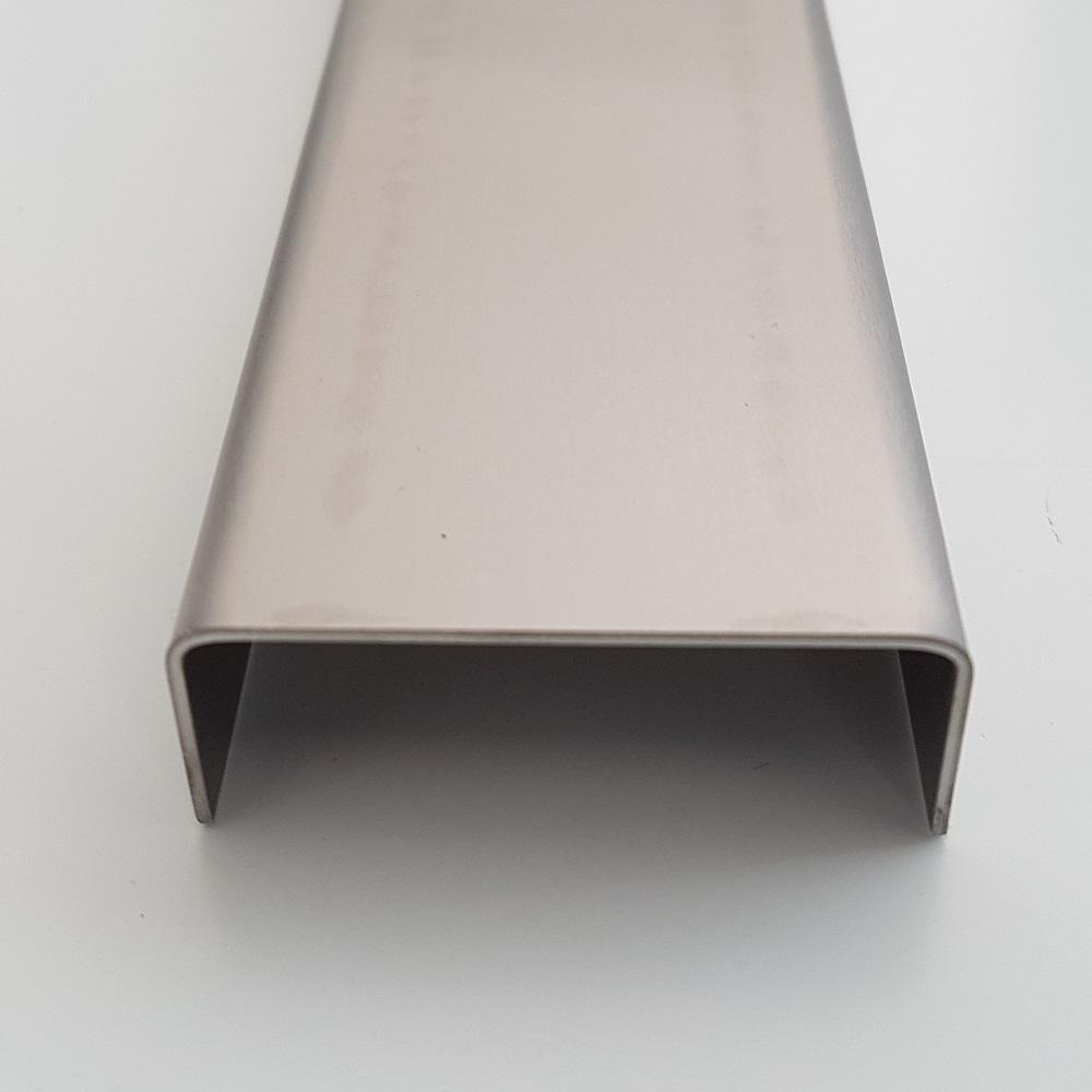 verschiedene U Edelstahl U-Profil gebürstet Stärke 2 mm Länge 1 m Profil VA