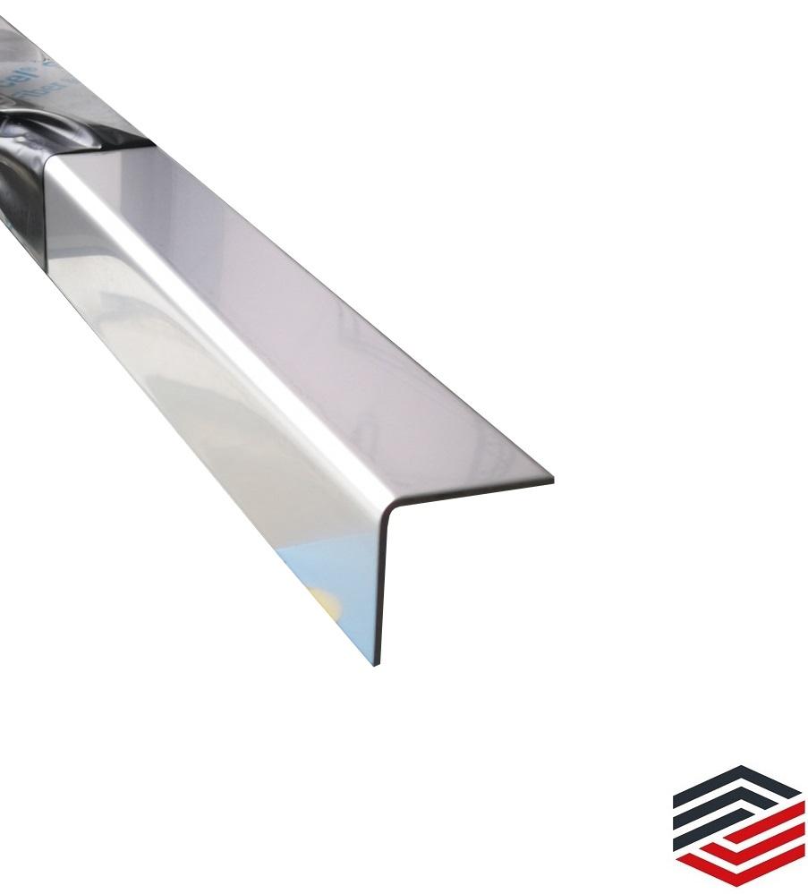 Edelstahl 1 mm V2A gebürstet K240 WINKEL Blech Kantblech Kantenschutz Eckschutz