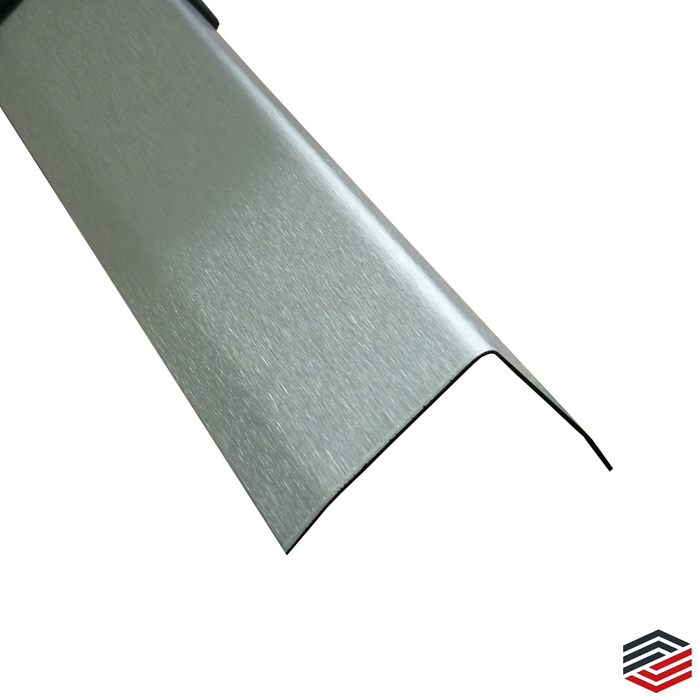 Edelstahl Schutzleiste 2000mm 75x45 mm K240 geschliffen V2A 0,8mm stark Winkelleiste Eckenprofil,kreativ bauen 200cm Edelstahlwinkel dekorative Winkelleiste Schenkel 7,5x4,5 cm