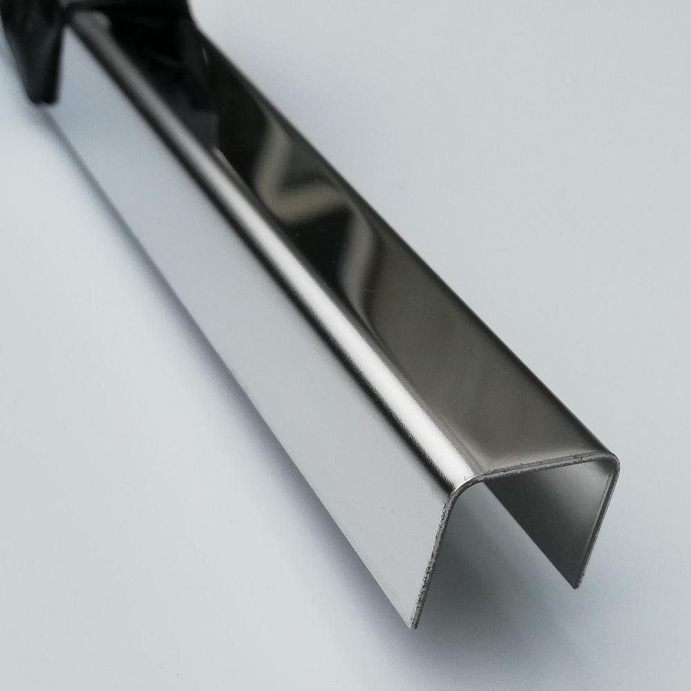 U Profil Edelstahl marmoriert Abdeckprofil 0,8mm 1m U Winkel Edelstahl V2A CNS