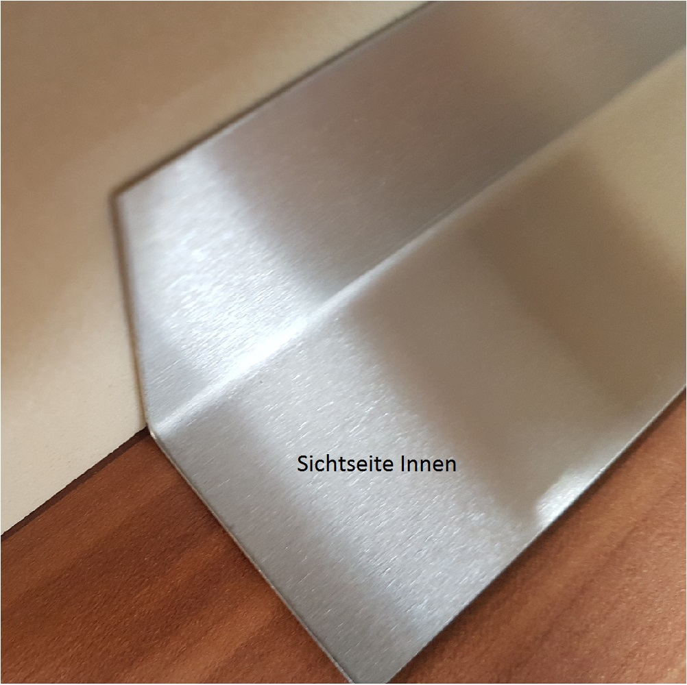 Edelstahl Winkel VA Eckschutz  Winkel ferromagnetisch Kantenschutz Leiste 1,0 mm