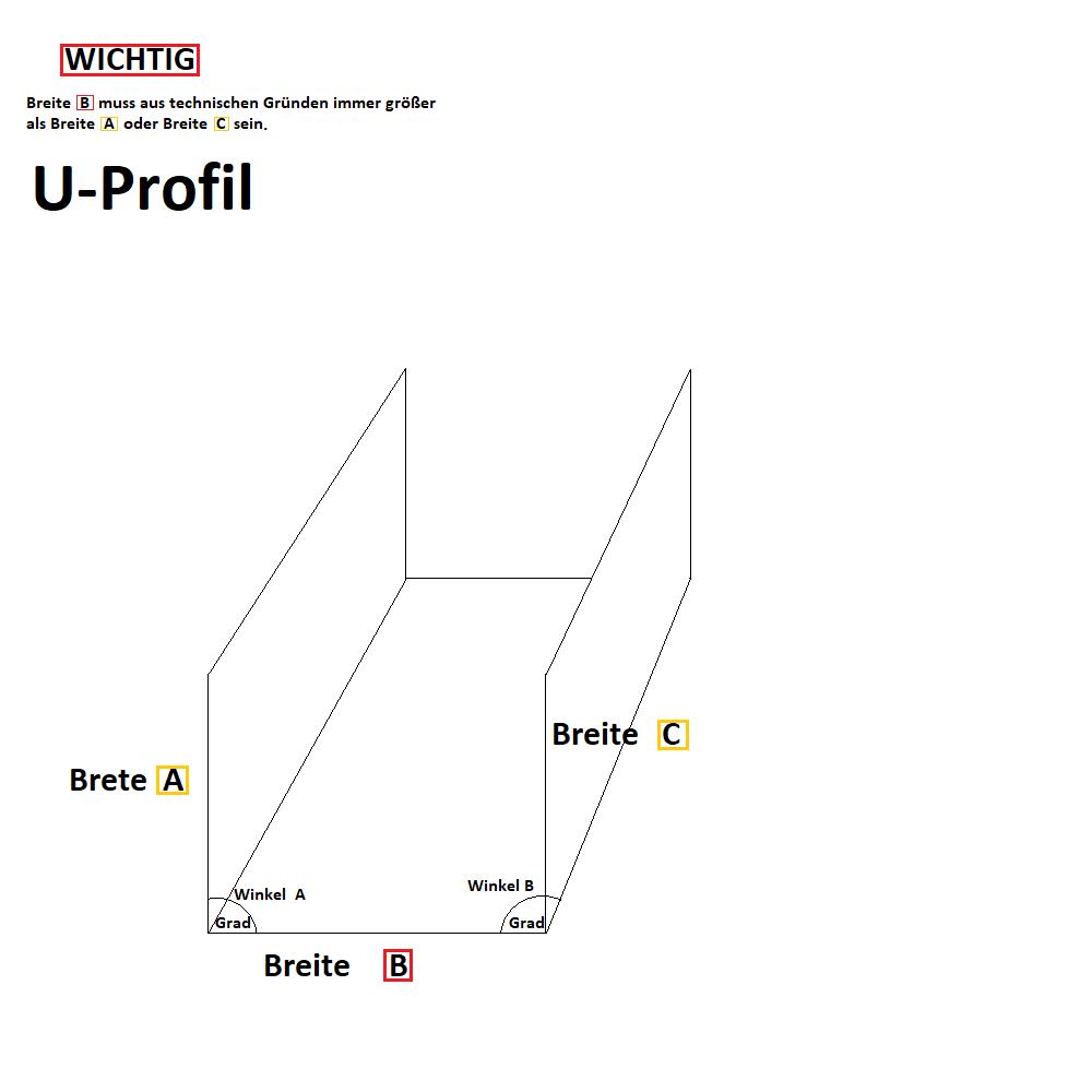 Aluminium U-Profile RAL 9016 White Aluminium uprofil Cable Cover 1,5 mm strong