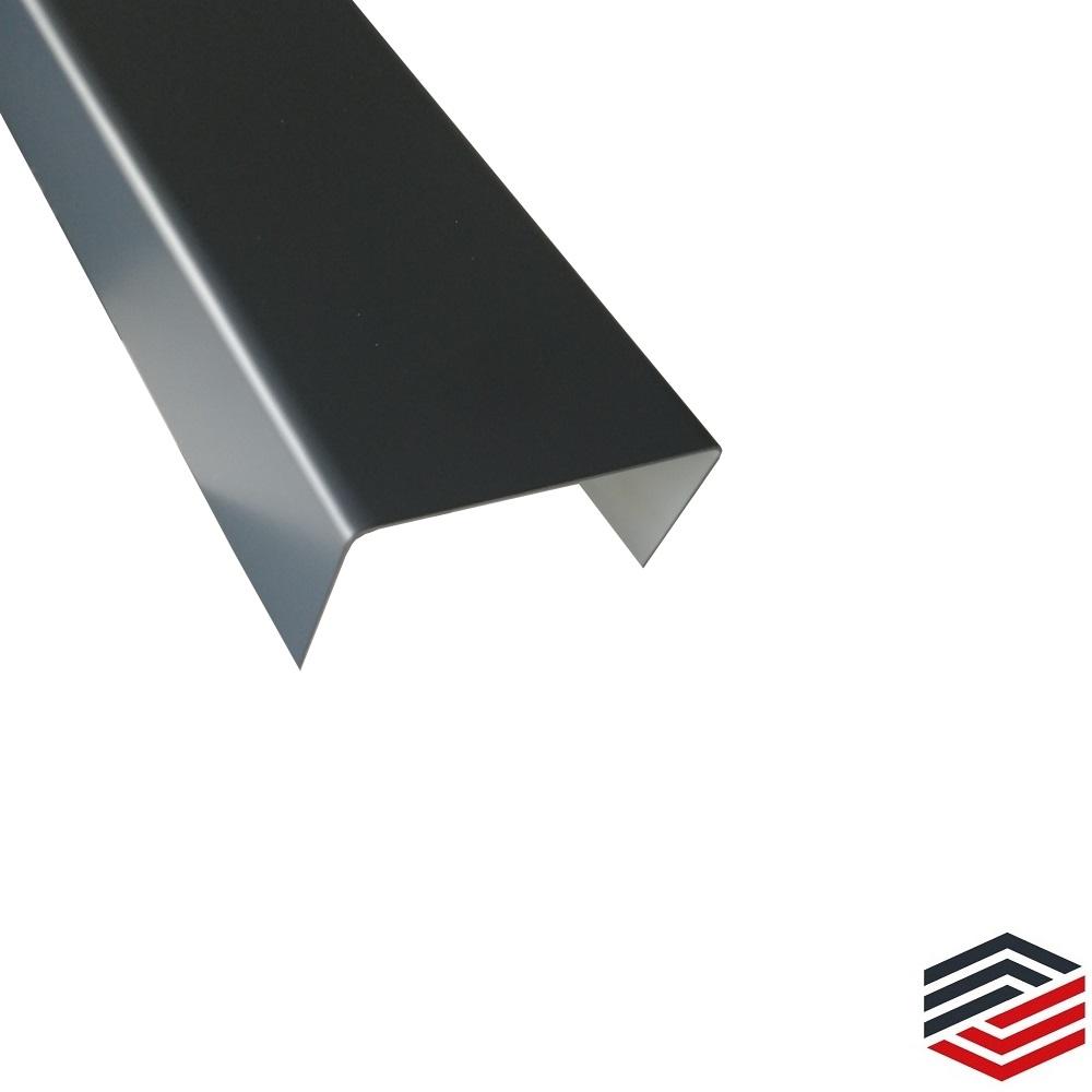 Aluminium U-Profil Schiene Anthrazit RAL7016 15x15x15x2mm 500mm Anthrazit RAL7016